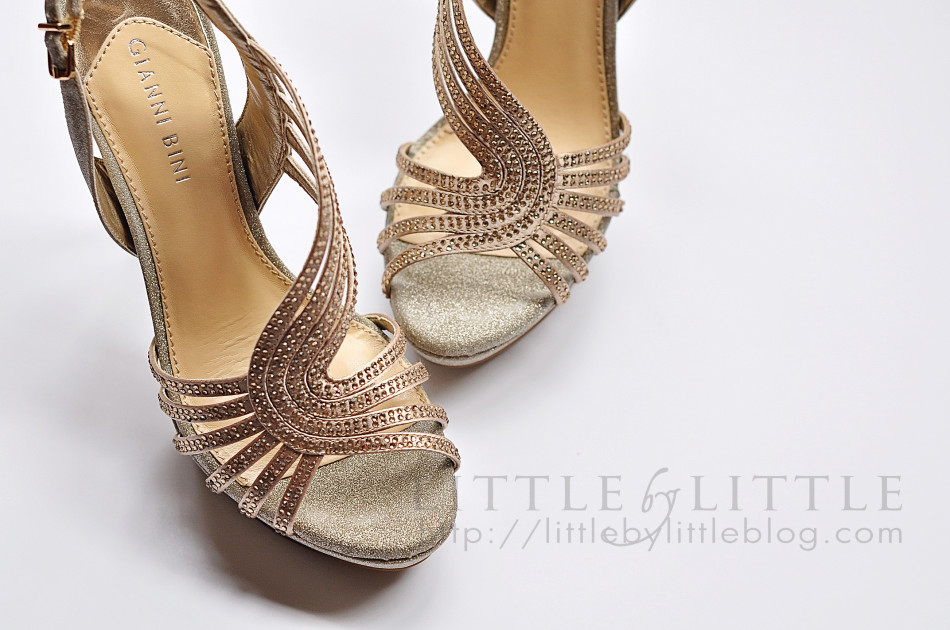the hunt for gold shoes - Little By Little blog